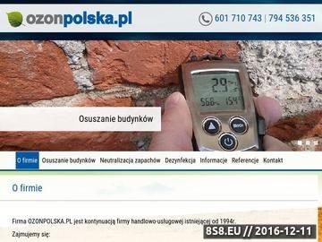 Zrzut strony Ozonpolska.pl - aromamarketing