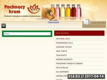 Zrzut strony Sklep oferuje szeroki wybór produktów do aromatyzacji domu