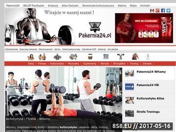 Zrzut strony Porady dotyczące diety, treningu oraz suplementacji