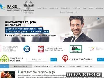 Zrzut strony Polska akademia sportu