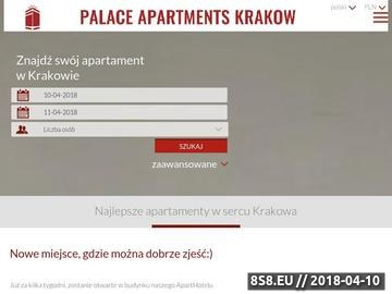 Zrzut strony Palace Apartments apartamenty w Krakowie