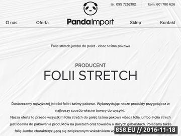 Zrzut strony Folia stretch - producent