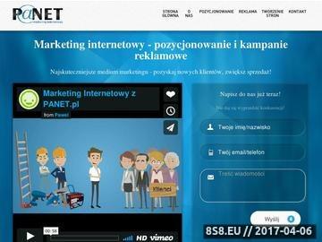 Zrzut strony Reklama w internecie PANET