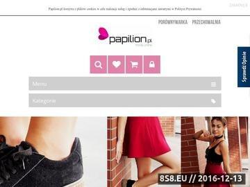 Zrzut strony Papilion - sklep internetowy z obuwiem damskim