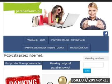 Zrzut strony Pożyczki przez Internet