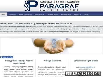 Zrzut strony Kancelaria Prawna Paragraf Kamila Pazur - Prawnik Gdańsk