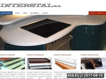 Zrzut strony Parapety PVC - producent Interstal