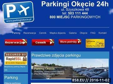 Zrzut strony Parking Okęcie - parkingi Warszawa