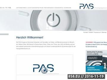 Zrzut strony PAS przemysł AGD