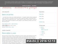 Miniaturka domeny pasja-sutasz.blogspot.com