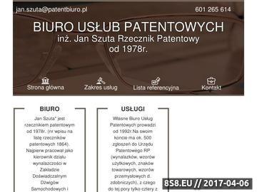 Zrzut strony Kancelaria oferuje doradztwo w zakresie uzyskania patentu