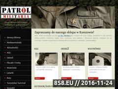 Miniaturka domeny www.patrolmilitaria.pl