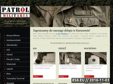 Zrzut strony Sklep z militariami Rzeszów