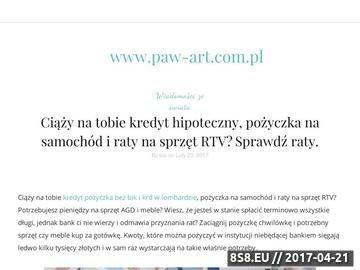 Zrzut strony Paw-Art - nadzór BHP