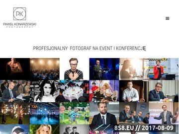 Zrzut strony Fotografia eventowa