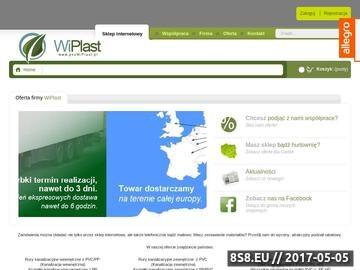 Zrzut strony WiPlast kolana kanalizacyjne, rury PCV-PP