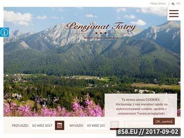 Zrzut strony Pensjonat Tatry Zakopane Kościelisko - ferie zimowe w górach