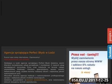 Zrzut strony PERFECTBŁYSK - sprzątanie biur Łódź