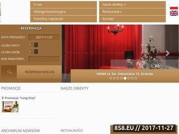 Zrzut strony Apartamenty w Krakowie, Aparthotel Kraków, Noclegi w Krakowie