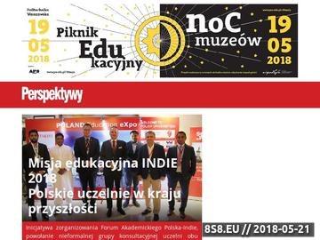 Zrzut strony Perspektywy.pl - Matura, Studia, Uczelnie