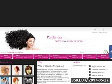 Zrzut strony Peruka - pielęgnacja włosów