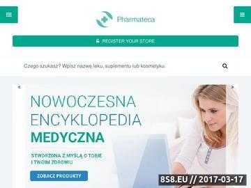 Zrzut strony Baza leków Pharmateca