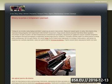Zrzut strony Portal stroiciela pianin i fortepianów PIANO EXPERT