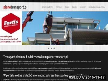 Zrzut strony Pianotransport.pl - serwis o transporcie pianin
