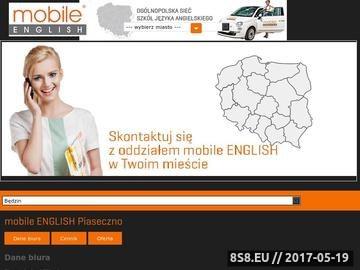 Zrzut strony Angielski w Piasecznie