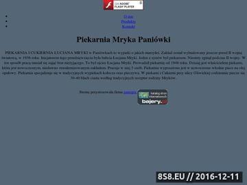 Zrzut strony Piekarnia i Cukiernia Łucjan Mryka Paniówki