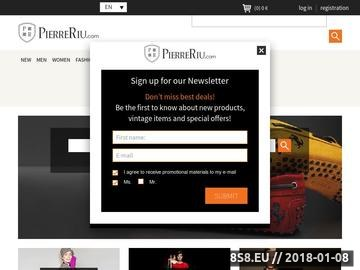 Zrzut strony PierreRiu.com - wyprzedaże