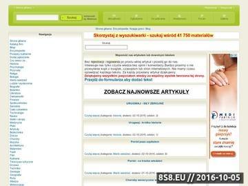 Zrzut strony Baza informacji