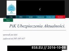 Miniaturka domeny www.pikubezpieczenia.pl
