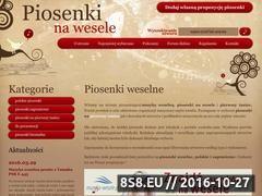 Miniaturka domeny www.piosenkinawesele.pl