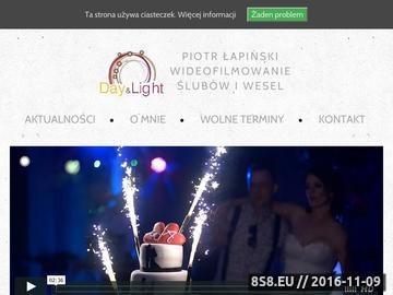 Zrzut strony Day&Light Studios - kamerzysta Białystok