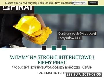 Zrzut strony Ubrania robocze Warszawa - Pirat