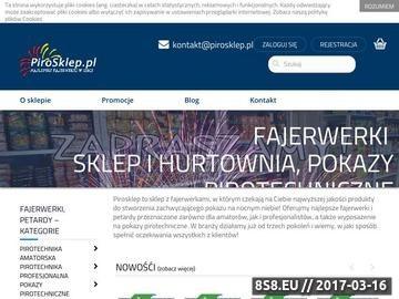 Zrzut strony Pirosklep - sklep pirotechniczny i hurtownia Warszawa