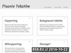 Miniaturka domeny www.pisanie-tekstow.com.pl