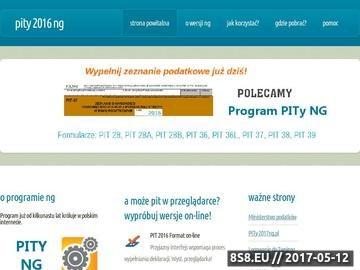 Zrzut strony Strona z programem Pity Ng