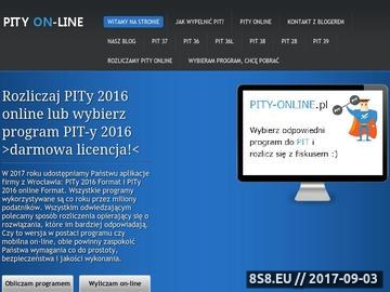 Zrzut strony PITY online 2014