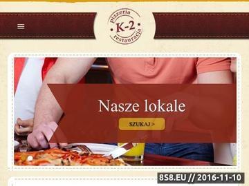 Zrzut strony Sieć pizzerii