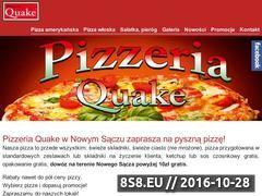 Miniaturka domeny www.pizzeria-quake.sacz.pl