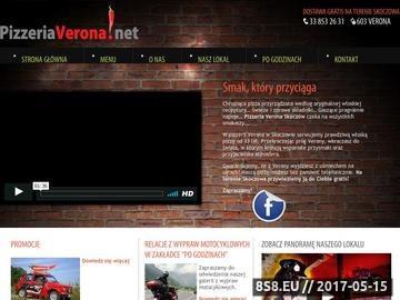 Zrzut strony Pizzeria Verona Skoczów - najlepsza pizza w Skoczowie