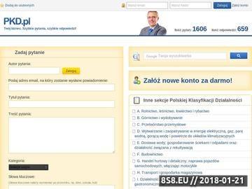 Zrzut strony Polska Klasyfikacja Działalności