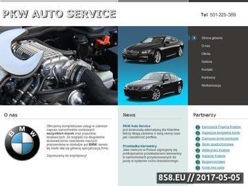Zrzut strony PKW Auto Service - Kraków
