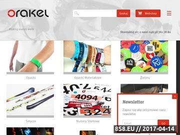 Zrzut strony ORAKEL producent materiałów na eventy