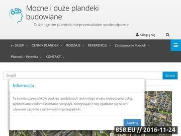Zrzut strony Plandeki ochronne okryciowe sklep Poznań