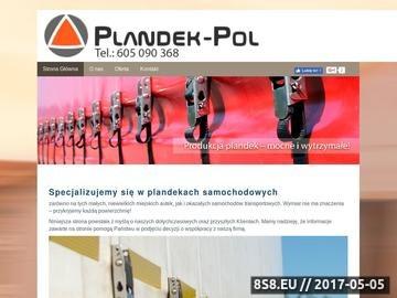 Zrzut strony Producent plandek samochodowych PLANDEK-POL