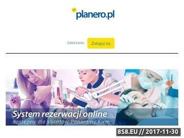 Zrzut strony Planero - ciekawe miejsca i wydarzenia, planowanie wolnego czasu.