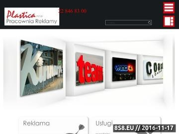 Zrzut strony Neony Warszawa - Plastica